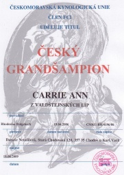 Grantšampion Carrie Ann
